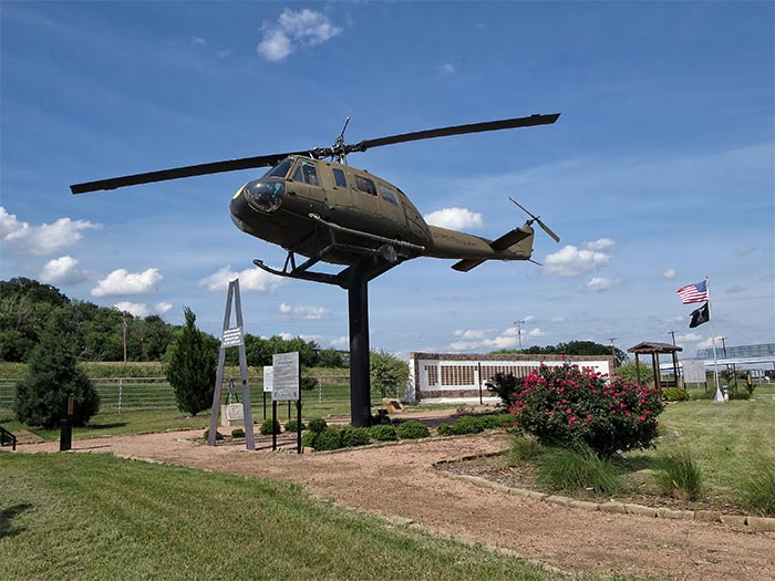 Huey Helicopter in Contemplation Garden
